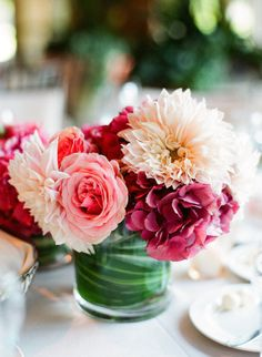 All of these are perfect! Definitely love the dahlias and roses together and whatever the others are!