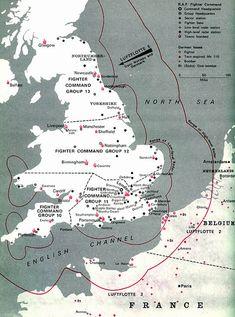 Battle of Britain map.