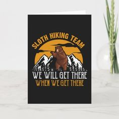 Hiking Camping Landscape Mountains Gift Card #pets #science #nature camping ideas, camping food, tent camping, back to school, aesthetic wallpaper, y2k fashion