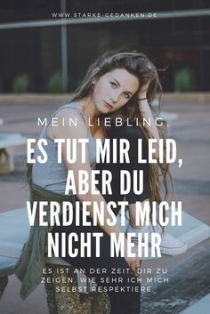 p/es-tut-mir-leid-aber-du-verdienst-mich-nicht-mehr delivers online tools that help you to stay in control of your personal information and protect your online privacy. Romantic Love Quotes, Love Quotes For Him, Quotes To Live By, Relationship Problems, Relationship Memes, Relationships, You Dont Deserve Me, Gratitude Quotes, Crush Quotes