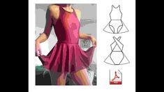 DIY Leotard with skirt from PDF download pattern Handmade Skirts, Handmade Clothes, Gothic Fashion, Boho Fashion, Fashion Design, Swimsuit Pattern, Balerina, Pdf Patterns, Leotards