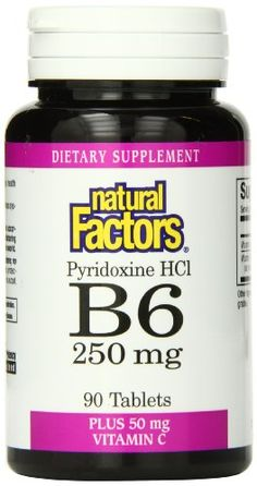 Natural Factors Vitamin B6 Pyridoxine Hcl 250mg Tablets, 90-Count ** Continue to the product at the image link.