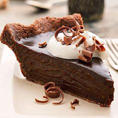 Double Chocolate-Espresso Truffle Pie. For serious chocoholics! Midwest Living November/December 2012 Recipes: http://www.midwestliving.com/holidays/christmas/midwest-living-novemberdecember-2012-recipes/page/5/0