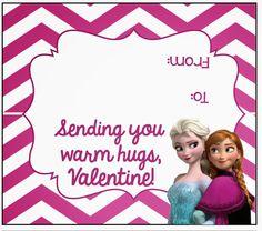 FREE Frozen Valentine Treat Bag Toppers | MySunWillShine.com