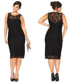 Women Lady Formal Lace pencil Sundress Evening Cocktail Party Plus Size dress