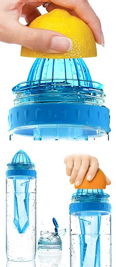Citrus 2 Go - fruit infusing water bottle // make yummy + healthy infused drinks #product_design