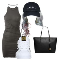 """""""Swervee"""" by beautyqueen-927 ❤ liked on Polyvore featuring DRKSHDW, adidas and Michael Kors"""
