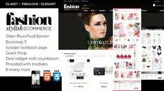 Classy Elegant Fabulous web design / ecommerce design for opencart