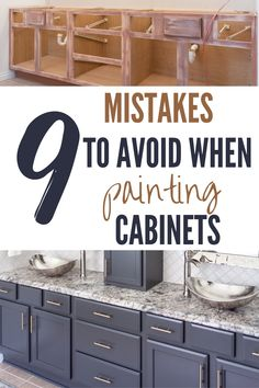 Repainting Kitchen Cabinets, Painting Bathroom Cabinets, Diy Cabinets, Kitchen Redo, Kitchen Remodel, Kitchen Design, Painting Laminate Dresser, Bathroom Cabinet Redo, How To Paint Kitchen Cabinets