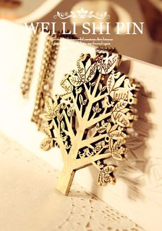 TREE NECKLACE - Rings & Tings | Online fashion store | Shop the latest trends