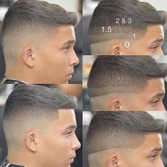 """Knowledge is power! Thanks to @stylesfactory for this Mid Fade breakdown . ✂️ #MidFade #MediumFade #Fohawk #SkinFade #NeverStopLearning #HowToFade…"""