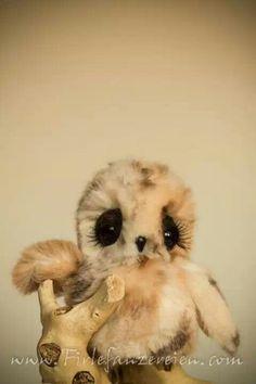 owl, cute, ooak
