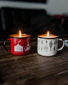 Our bestselling enamel mugs + our best smelling candles. Once the candle burns through, you can use the mug for coffee & soup.