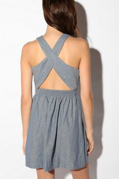 Cooperative Chambray Crossback Dress