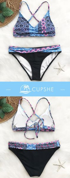Have some fun in the sun! Give yourself more freedom and feel the beach air! Take the hot printed swimsuits and dive into cool sea. Be a mermaid in the stylish swimsuits. FREE shipping~