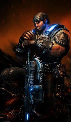 Games wallpapers | Gears Of War Marcus Fenix | http://www.fabuloussavers.com/games-desktop-wallpapers.shtml