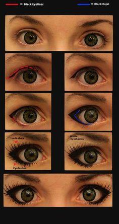 How to get big cartoon/anime eyes.