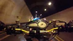 MV AGUSTA BRUTALE TUNNEL  AT 220 KM/H