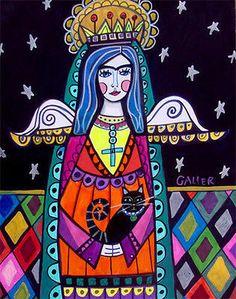 ANGEL PRINT art Poster Virgin of Guadalupe Mexican Folk Art 8x10 Cat GALLER