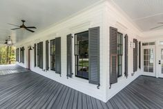 Siding: snowbound from sherwin Williams Shutters: peppercorn from sherwin Williams Trex decking: Winchester gray