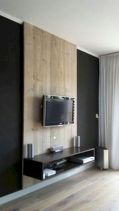 Most contemporary and marvelous TV wall designs. Living room tv Ideas TV Wall Mount Ideas for Living Room, Awesome Place of Television, nihe and chic designs, modern decorating ideas Source: www. Modern Tv Wall, Living Room Modern, Living Room Designs, Small Living, Deco Tv, Tv Stand Designs, Tv Wall Decor, Wall Tv, Wall Wood