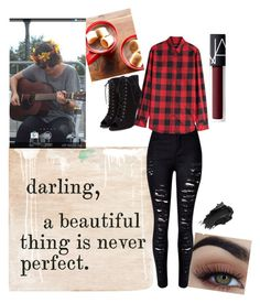 """Day 3 Casey"" by issa-bella-22 ❤ liked on Polyvore featuring Sugarboo Designs, WithChic, Dsquared2, Urban Decay and NARS Cosmetics"