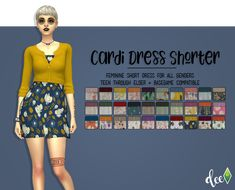 """deetron-sims: """" Short Skirt + Short Cardi for that spring weather that isn't quite warm enough but, not that cold either. Comes in / Rifle Paper Co. patterns and a bunch I begged for! Maxis, Sims 4 Cc Packs, Sims 4 Mm Cc, Sims 4 Seasons, Short Skirts, Short Dresses, Sims Stories, Sims 4 Dresses, Party Dresses"""
