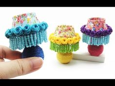 (267) DIY Miniature Craft - Mini Table Lamp - YouTube Miniature Crafts, Miniature Dolls, Miniature Tutorials, Barbie Dolls Diy, Diy Doll, Barbie House, Miniture Things, Craft Work, Dollhouse Furniture