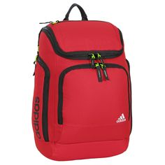 adidas Energy Backpack, Scarlet, 19 3/4 x 13 x 9/12-Inch. Internal padded Tablet & Computer Storage Sleeves. UltraRIDE technology with ultra-padded foam on the shoulder straps for extra comfort. Lifetime Warranty.