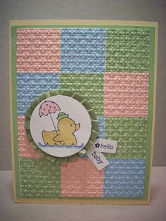 Quilted baby card... very cute!!!
