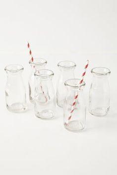 Anthropologie Glass Milk Bottles #anthrofave