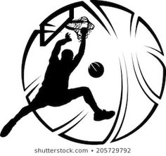 Silhouette of basketball dunk with a stylized basketball. Illini Basketball, Basketball Backboard, Street Basketball, Basketball Uniforms, Basketball Shoes, Rockets Basketball, Basketball Birthday, Basketball Drawings, Basketball Posters