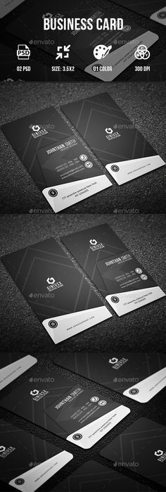 Buy Business Card II by GeniusPoint on GraphicRiver. Features: Easy Customizable and Editable Business Card Design in with Bleed Setting inch) CMYK Colo. Buy Business Cards, Business Card Maker, Vintage Business Cards, Elegant Business Cards, Professional Business Cards, Business Card Design, Fond Design, Modern Design, Web Design