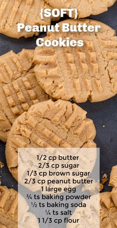 Soft peanut butter cookie recipe! These are easy cookies with peanut butter and pantry staple ingredients that you probalby allready have. Our best peanut butter cookies. #cookies #peanutbutter #peanutbuttercookies #cookierecipe #christmascookies #holidaycookies #christmas #dessert