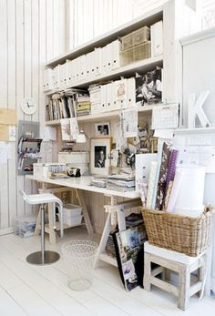 Home office, home of Norwegian stylist Kirsten Visdal. Photographer Trine Thorsen
