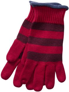 Gudrun Sjödéns Winterkollektion 2014 - Gestreifte Fingerhandschuhe aus Öko-Baumwolle/Wolle