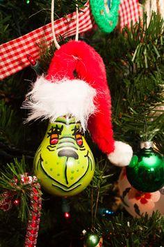 The Grinch Light Bulb Ornament. $5.00, via Etsy.