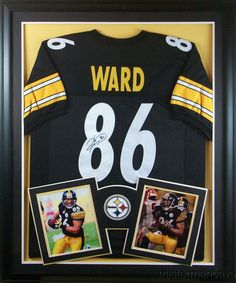 f2f837e80 Details about Hines Ward Signed Pittsburgh Steelers 35x43 Custom Framed  Jersey (JSA COA)