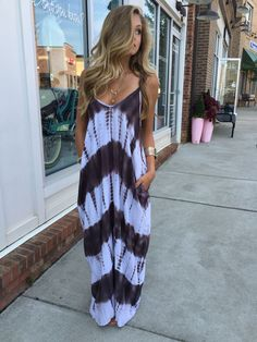 Tie dye pocket maxi #swoonboutique