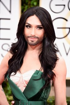 Conchita Wurst is proof that false lashes and a well-groomed beard makes for serious glamour.