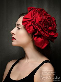 Fascinator Headpiece Red as the Reddest Rose by BoringSidney, $195.00
