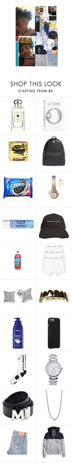 """""""""""She call me Papi Chulo, but I ain't her father, she wetter than the water."""" -Dezo"""" by gl0ry-boyz ❤ liked on Polyvore featuring Jo Malone, xO Design, MCM, Beats by Dr. Dre, Nivea, Calvin Klein, Case-Mate, NIKE, Michael Kors and Retrò"""