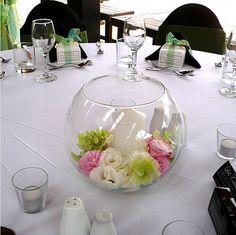 Small Floral Centerpiece Ideas | Round glass wedding centerpiece ideas photo.PNG