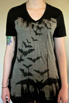 Bats on Bats on Bats by ARTISDUMB on Etsy, $25.00