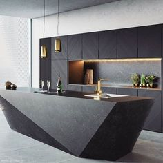 There is a lot of people today, tend to have modern kitchen design ideas for their new house. However, there is a lot of things that you need to know before creating modern kitchen design. House Design, Luxury Kitchens, Modern Interior Design, Modern Kitchen Island Design, Kitchen Room Design, Modern Farmhouse Kitchens, Kitchen Island Design, Kitchen Interior Design Modern, Kitchen Design Trends