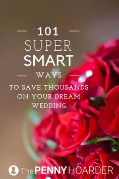 Because weddings are way too expensive - The Penny Hoarder http://www.thepennyhoarder.com/101-creative-ways-save-money-wedding/