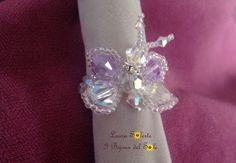 Anello Sun Farfalla con cristalli Swarovski e perline Miyuki. Design, progettazione e realizzazione da I Bijoux del Sole. Laura Solerte Copyright 2013. Prezzo Base € 25
