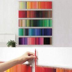 Sadece bir kaç kuru boya kalemi