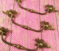 Vintage Keeler Brass Solid Bail & Curvy by SalvageArtsCreations