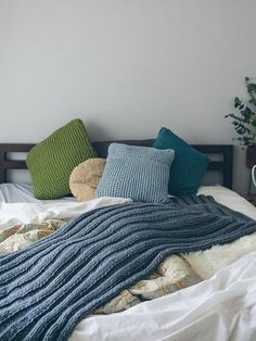 163 Best Blanket Knitting Patterns Images In 2019